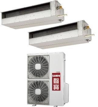 聲寶SAMPO AU-T6363/CH-PY63L+CH-PY63L   隱藏式一對二分離式冷氣機