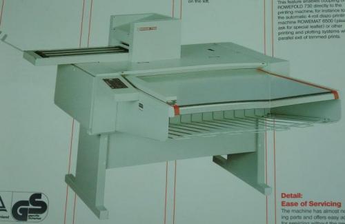 德國原裝 ROWE 730 A0十字折摺圖機